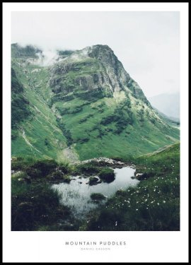 Mountain Puddles Poster