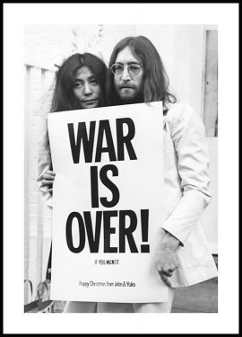 War is Over John Lennon Poster