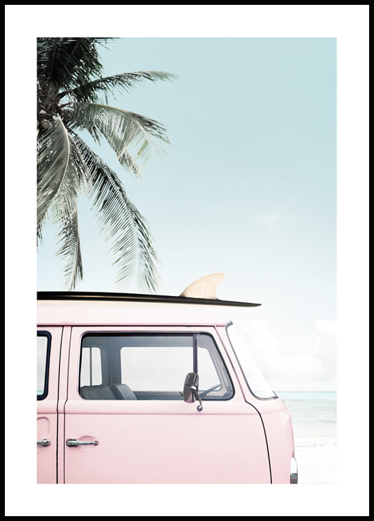 Strand Surf Bus Poster