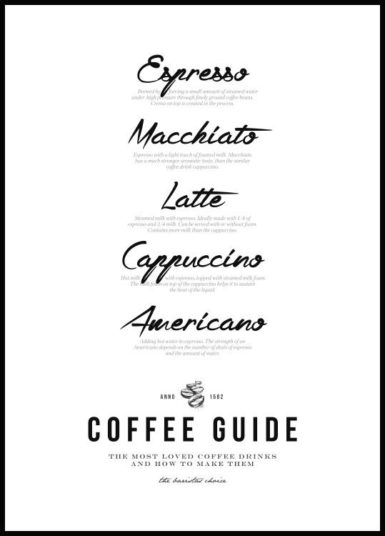 Coffee Guide Poster