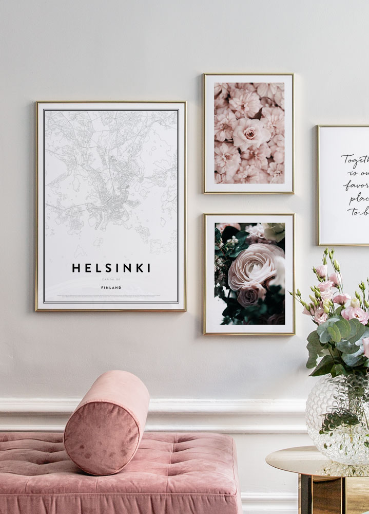 Map of Helsinki Poster